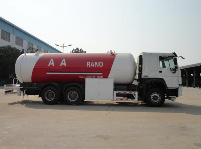 Factory Supply 30 M3 Fully Pressurized LPG Propane Delivery Road Truck Image1