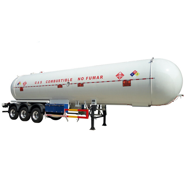 3 Axles 13,250Gallons LPG Propane Delivery Road Truck Image1
